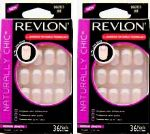2 x BOXES REVLON NATURALLY CHIC FALSE NAIL FRENCH MANICURE 99203 ZOE PINK NAILS MEDIUM LENGTH
